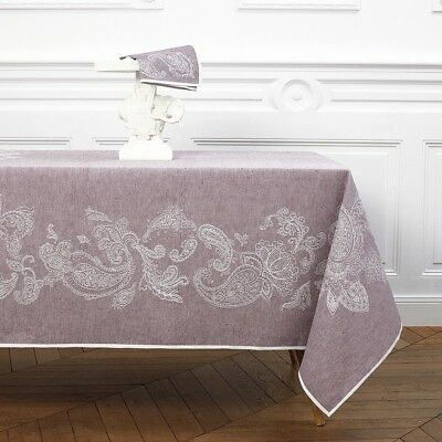 France Yves Delorme Gourmet Linen/cotton Tablecloth / Matching Napkins