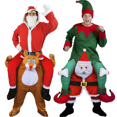 Santa Claus Or Rudolph Reindeer Costume Novelty Pick Me Up Christmas Fancy Dress