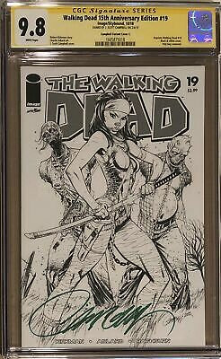 The Walking Dead #19 15th Anniversary Edition J. Scott Campbell Sketch Cover Cgc