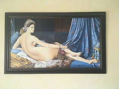 Grande Odalisque, Oil On Canvas 100% Handmade Painting