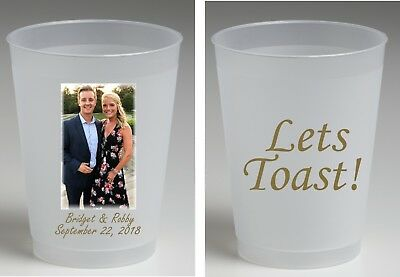 16 oz frost flex personalized cups full color wedding cups, housewarming, favors