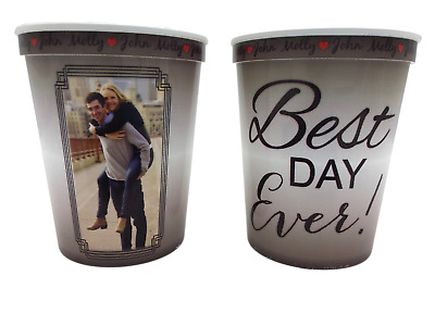 22oz Personalized Custom Printed Stadium Cups Wedding Favor Plastic Full Color