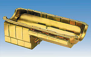 Milodon 31187 31167 Steel, Gold Zinc Plated Strip And Serious Street Oil Pan Fo