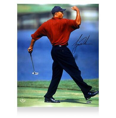 Tiger Woods Signed Photo: Fist Pump Autograph