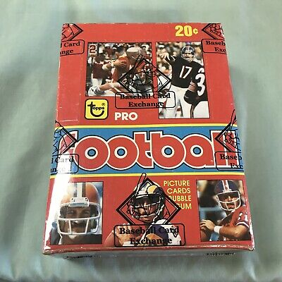 1979 Topps Football Full Box 36 Sealed Wax Packs Bbce Wrapped Earl Campbell Rc