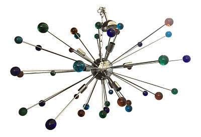 Unique Gigantic Sputnik Chandelier Ceiling Lamp Multicolor Very Big
