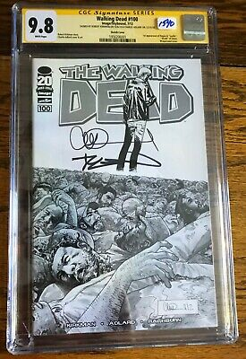 2012 Walking Dead #100j Cgc 9.8 Signed By Allard & Kirkman