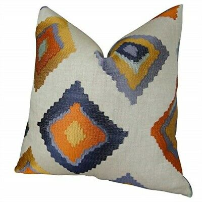 "Plutus Brands Plutus Native Trail Cayenne Handmade Throw Pillow 20"" X 30"" Queen"