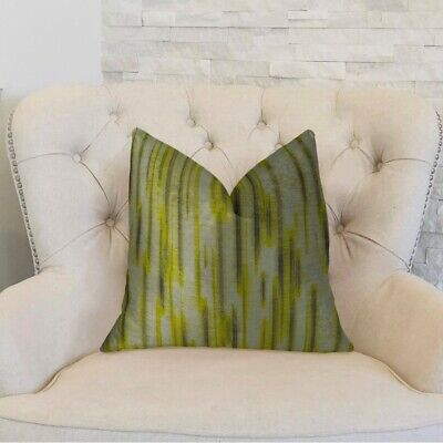 """Plutus Pinceaux Handmade Throw Pillow, (double Sided  20"""" X 36"""" King)"""