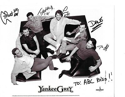 Guaranteed 8x10 Autographed By Country Group Yankee Grey With Their 2 Cds