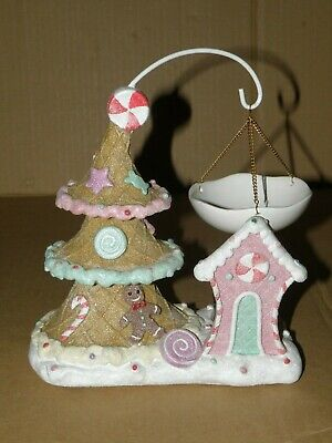 Yankee Candle Sugar Plum Village Frosted Hanging Tart Burner Nwt