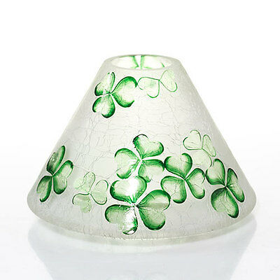 Yankee Candle Celtic Dreams St Patricks Day Crackle Glass Jar Candle Shade Nib