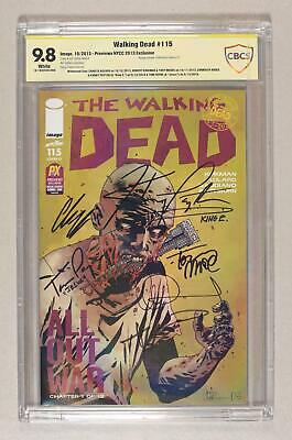 Walking Dead #115 Adlard Cover O Nycc Previews Variant Cbcs 9.8 Ss 2013