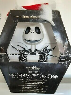 The Nightmare Before Christmas Ultimate Collectors Dvd Set Jack Skellington Bust