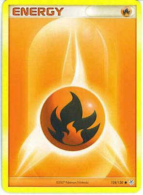 (pok-DP-124) Fire Energy Pokemon Diamond & Pearl Base Set Card # 124
