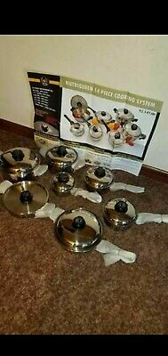 Nutriqueen Cookware Expensive Warranty New 14pcs Just Like Royal Prestige