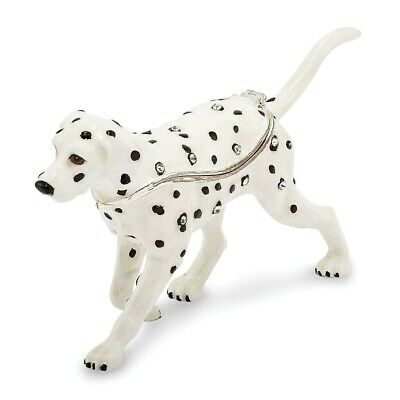 Bejeweled Scout Dalmatian Trinket Box Gift For Christmas