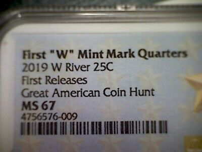 2019 W River Of No Return Np Quarter 25c Ngc Ms 67 First Releases West Point 901