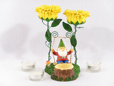 Yankee Candle Gnome Swing Tea Light Candle Holder