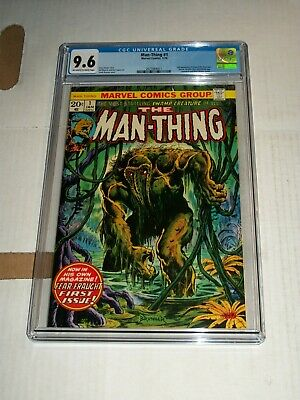 Marvel Man-thing #1 Cgc 9.6 January 1974 2nd Appearance Of Howard The Duck