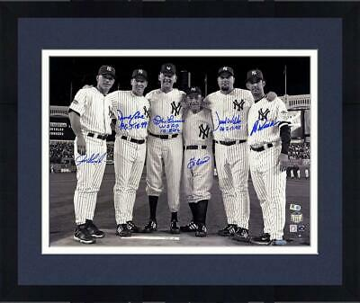 Framed Final Game At Yankee Stadium Perfect Game Signed 16x20 Photo 6 Sigs