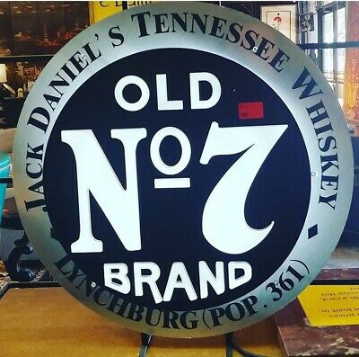 Rare: Jack Daniels Old No.7 Neon Sign, 24 Inch By 24 Inch