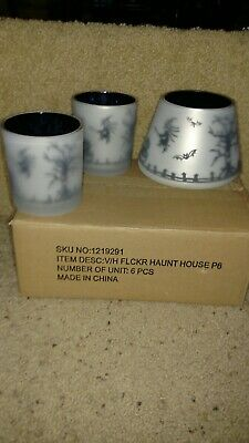 Yankee Candle Haunted House Flicker Jar Shade & Matching Votive Holders 2011...