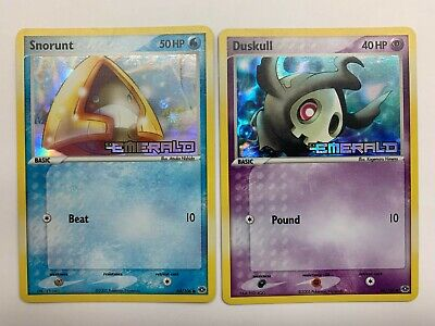 EX EMERALD Holo Set, Snorunt 64/106, Duskull 46/106, Pokemon, Near Mint