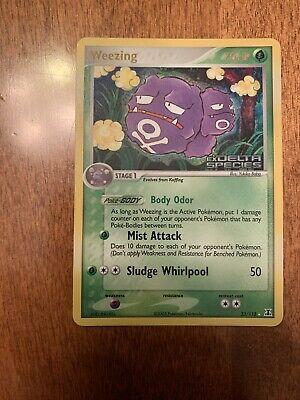 Pokemon Card EX Delta Species Reverse Holo Weezing #33/113