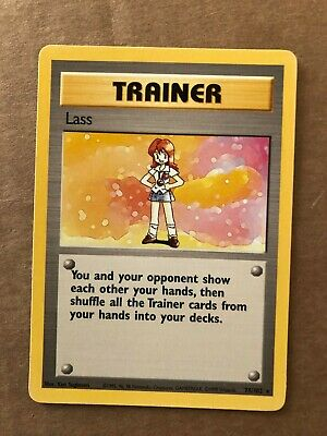 Pokemon Lass 75/102 Base Set Rare Trainer NM See Pictures
