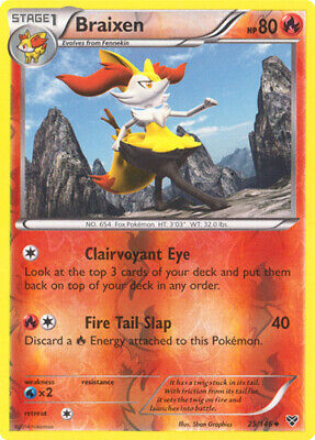 1x Braixen - 25/146 - Uncommon - Reverse Holo XY Pokemon Near Mint