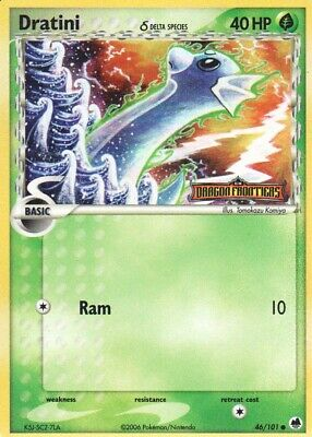 1x Dratini δ - 46/101 - Common - Reverse Holo EX Dragon Frontiers Pokemon Played