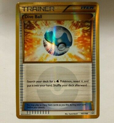 Pokemon TCG: Dive Ball 161/160 Hyper Rare, XY Primal Clash, Pack Fresh, MINT