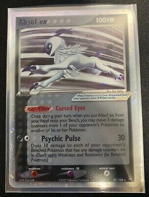 Pokemon EX Power Keepers Ultra Rare Holo Absol ex #92/108 MP