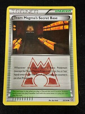 Pokemon TCG Team Magma's Secret Base 32/34 Uncommon Double Crisis LP
