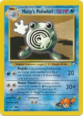 Pokemon Card - Gym Heroes 53/132 - MISTY'S POLIWHIRL (uncommon) - NM