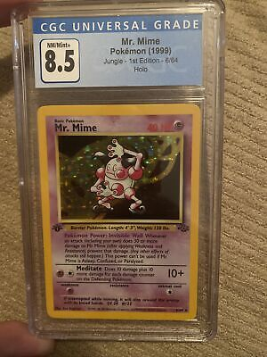 CGC 8.5 Mint Mr. Mime 1st Edition Jungle Pokemon Card Holo Near