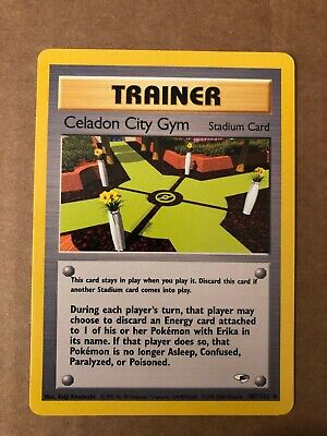 Pokemon Celadon City Gym 107/132 Gym Heroes NM See Pictures