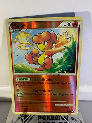 Pokemon TCG Magby 46/95 Reverse Holo Uncommon HS Call of Legends NM