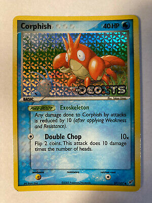 Corphish 57/107 C Stamped Reverse Holo Pokemon TCG Card Deoxys HP-MP