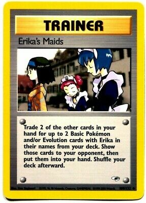 PokemonErika's MaidsLightly Played 1st Edition NormalGym Heroes