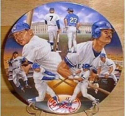 Mantle And Mattingly Yankee Plate 10 1/4 Ltd.