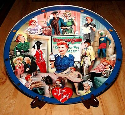 I Love Lucy The Lucille Ball Large Tribute The Danbury Mint Collection Plate