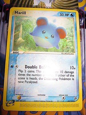 Pokemon Mint (◕‿◕✿) Ex Sandstorm English Marill 68/100 Com 1st Edition (2003)