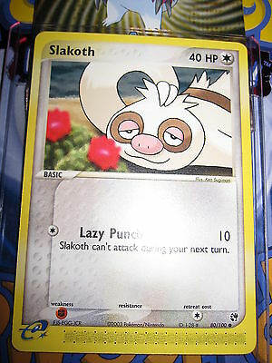Pokemon Mint (◕‿◕✿) Ex Sandstorm English Slakoth 80/100 Com 1st Edition (2003)