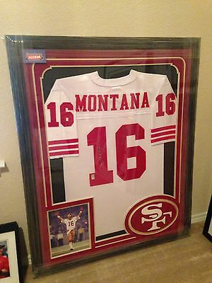 Joe Montana Signed Custom Framed 49ers Jersey - Player Holo Auto Autograph