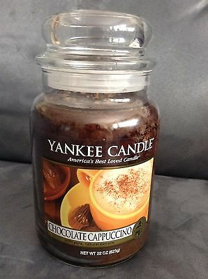 Yankee Candle 22 Oz Chocolate Cappuccino Jar Candle - Very Rare - Brand New