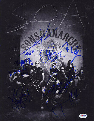 Sons Of Anarchy Cast Multi Signed 11x14 Photo +9 Full Letter Psa/dna Autographed