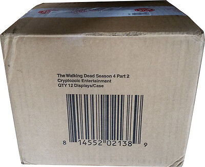 Walking Dead Season 4 Part 2 Factory Sealed Case Of 12 Trading Card Boxes