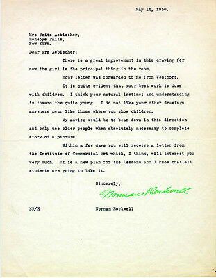 Norman Rockwell - Typed Letter Signed 05/14/1950
